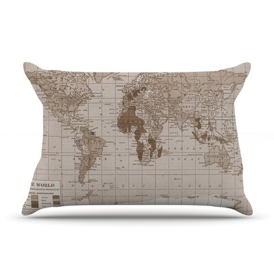 Emerald World by Catherine Holcombe Featherweight Pillow Sham Size: Queen, Fabric: Woven Polyester