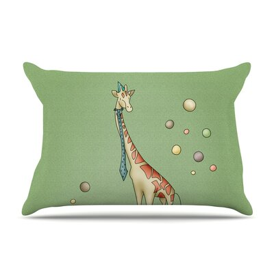 Giraffe by Carina Povarchik Featherweight Pillow Sham Size: King, Fabric: Woven Polyester