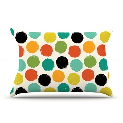 Retro Dots Repeat by Daisy Beatrice Featherweight Pillow Sham Size: King, Fabric: Woven Polyester