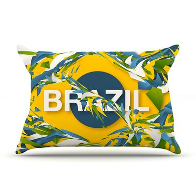 Brazil by Danny Ivan Featherweight Pillow Sham Size: King, Fabric: Woven Polyester