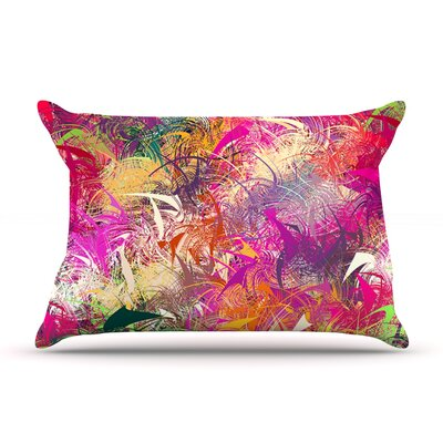 Danny Ivan Splash Rainbow Abstract Pillow Case