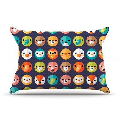 Smiley Faces Repeat by Daisy Beatrice Featherweight Pillow Sham Size: King, Fabric: Woven Polyester