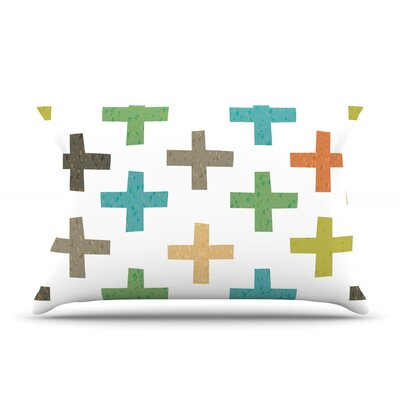 Hipster Crosses by Daisy Beatrice Featherweight Pillow Sham Size: Queen, Fabric: Woven Polyester