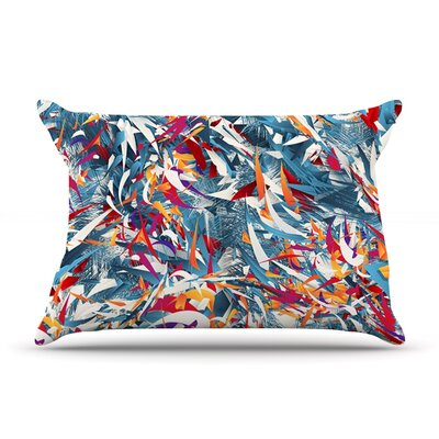 Excited Colours by Danny Ivan Featherweight Pillow Sham Size: King, Fabric: Woven Polyester