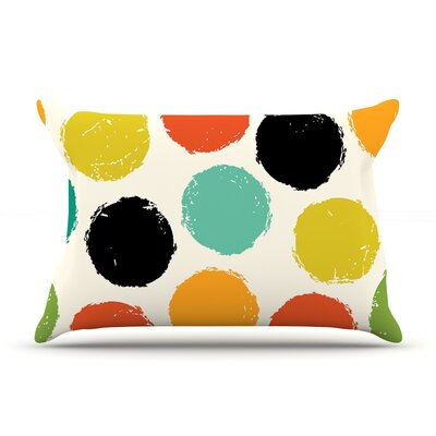 Retro Dots by Daisy Beatrice Featherweight Pillow Sham Size: King, Fabric: Woven Polyester