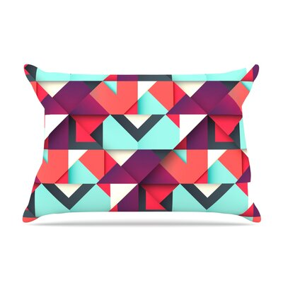 Shapes by Danny Ivan Featherweight Pillow Sham Size: Queen, Fabric: Woven Polyester