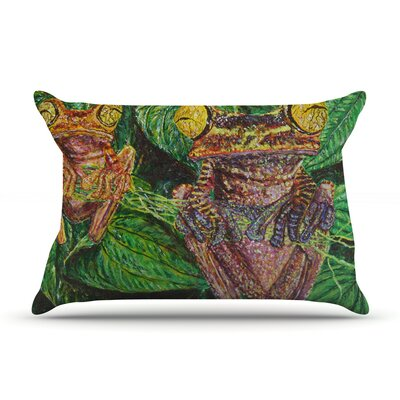 Frogs by David Joyner Featherweight Pillow Sham Size: King, Fabric: Woven Polyester
