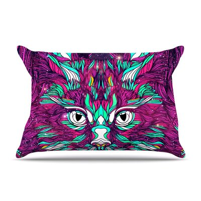 Danny Ivan Space Cat Featherweight Sham Size: King, Fabric: Woven Polyester