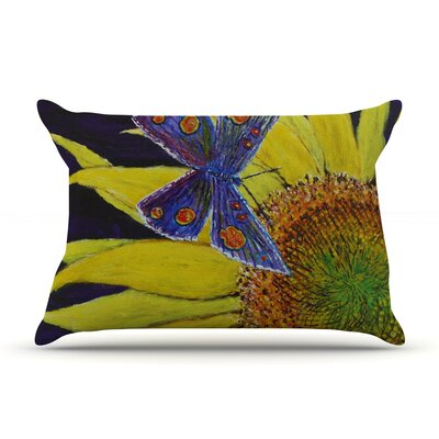 Butterfly by David Joyner Featherweight Pillow Sham Size: King, Fabric: Woven Polyester