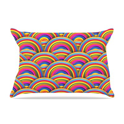 Rainbows by Danny Ivan Featherweight Pillow Sham Size: Queen, Fabric: Woven Polyester