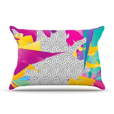 80s Abstract by Danny Ivan Featherweight Pillow Sham Size: King, Fabric: Woven Polyester