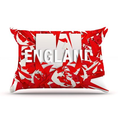 England by Danny Ivan Featherweight Pillow Sham Size: King, Fabric: Woven Polyester