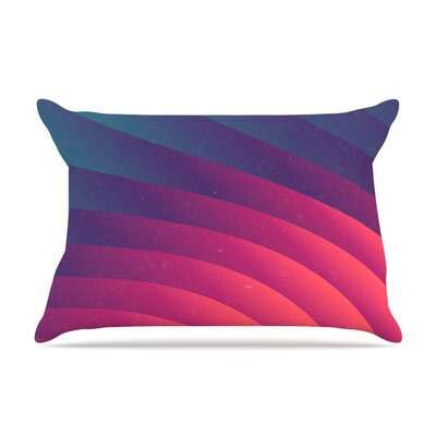 Reservoir Lines by Danny Ivan Featherweight Pillow Sham Size: King, Fabric: Woven Polyester