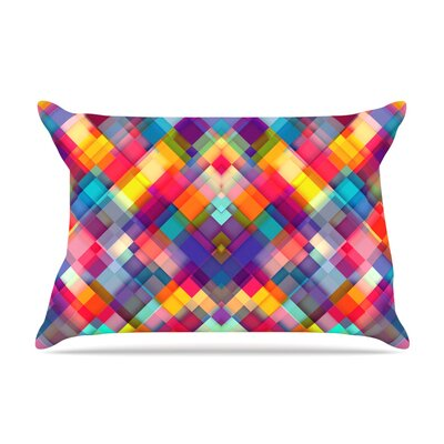 Squares Everywhere by Danny Ivan Featherweight Pillow Sham Size: King, Fabric: Woven Polyester