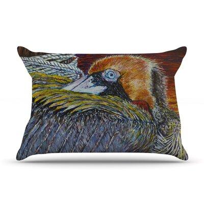 David Joyner Pelican Bird Pillow Case