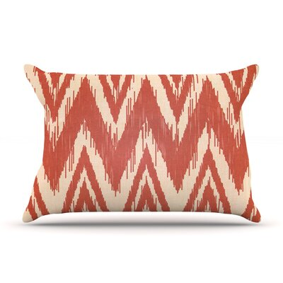 Heidi Jennings Tribal Chevron Red Pillow Case