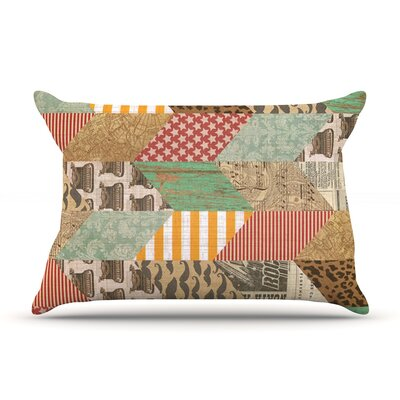 Hodge Podge by Heidi Jennings Featherweight Pillow Sham Size: King, Fabric: Cotton