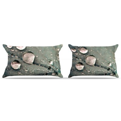 Water Droplets by Iris Lehnhardt Featherweight Pillow Sham Size: Queen, Color: Grey, Fabric: Woven Polyester