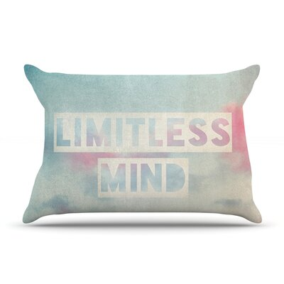 Limitless Mind by Ingrid Beddoes Featherweight Pillow Sham Size: King, Fabric: Woven Polyester