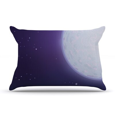Full Moon by Fotios Pavlopoulos Featherweight Pillow Sham Size: King, Fabric: Woven Polyester