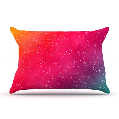 Colorful Constellation by Fotios Pavlopoulos Featherweight Pillow Sham Size: King, Fabric: Woven Polyester