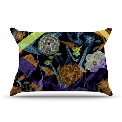 Gabriela Fuente Wonder Dark Flower Pillow Case