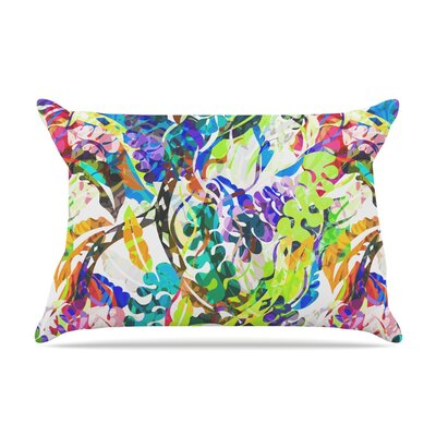 Gabriela Fuente Flow Rainbow Floral Pillow Case