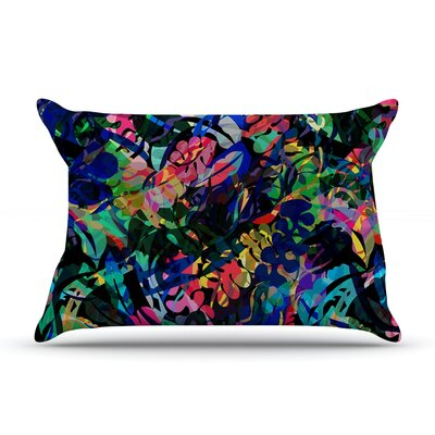 Flora Splash by Gabriela Fuente Featherweight Pillow Sham Size: King, Fabric: Woven Polyester