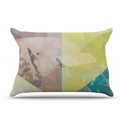 Patch Garden by Gabriela Fuente Featherweight Pillow Sham Size: Queen, Fabric: Woven Polyester