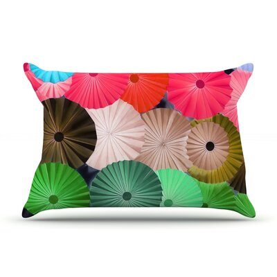 Parasol by Heidi Jennings Featherweight Pillow Sham Size: Queen, Fabric: Woven Polyester