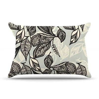 Java Leaf by Gill Eggleston Featherweight Pillow Sham Size: King, Fabric: Woven Polyester
