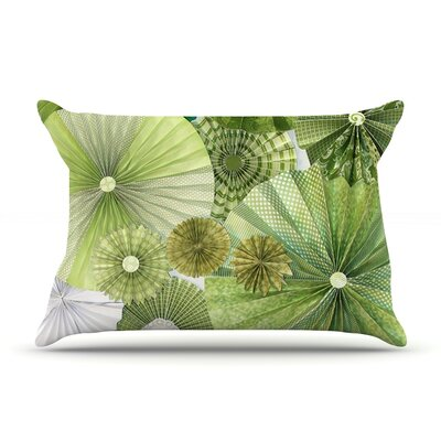 Green Thumb by Heidi Jennings Featherweight Pillow Sham Size: Queen, Fabric: Woven Polyester