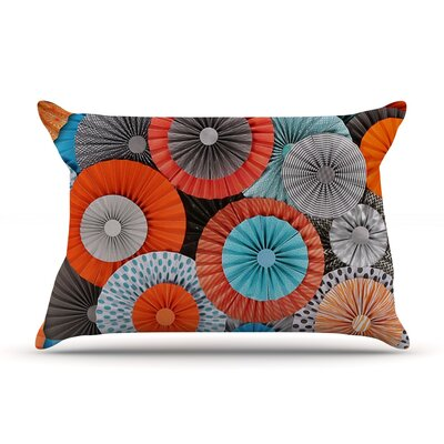 Heidi Jennings Breaking Free Orange Blue Featherweight Sham Size: Queen, Fabric: Woven Polyester