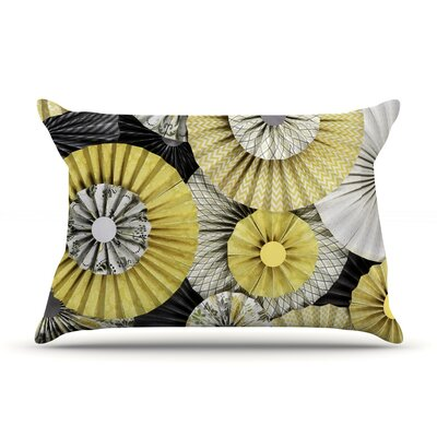 Heidi Jennings Daffodil Yellow Black Featherweight Sham Size: Queen, Fabric: Woven Polyester