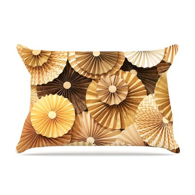 Caramel Latte by Heidi Jennings Featherweight Pillow Sham Size: King, Fabric: Woven Polyester