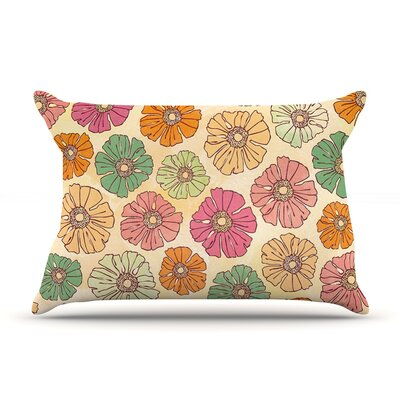 Vintage Petals by Heidi Jennings Featherweight Pillow Sham Size: King, Fabric: Woven Polyester