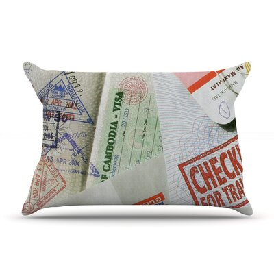 Travel The World by Heidi Jennings Featherweight Pillow Sham Size: King, Fabric: Woven Polyester