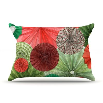 Christmas Remix by Heidi Jennings Featherweight Pillow Sham Size: King, Fabric: Woven Polyester