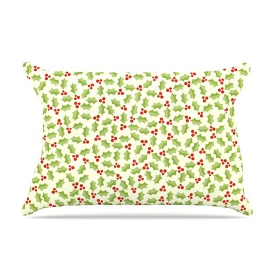 Oh Holly Night by Heidi Jennings Pillow Sham Size: King, Fabric: Woven Polyester