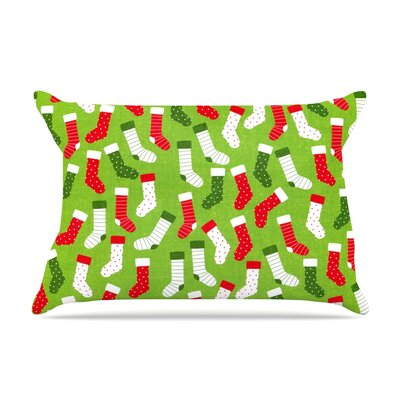 Stocking Season by Heidi Jennings Pillow Sham Size: Queen, Fabric: Woven Polyester