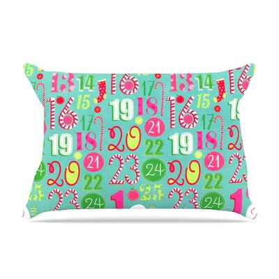 Merry Countdown by Heidi Jennings Pillow Sham Size: Queen, Fabric: Woven Polyester