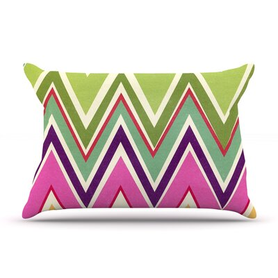Clash Of Color by Heidi Jennings Featherweight Pillow Sham Size: Queen, Fabric: Woven Polyester