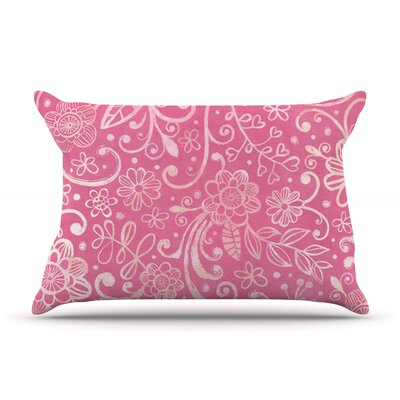 Too Much Pink by Heidi Jennings Featherweight Pillow Sham Size: Queen, Fabric: Woven Polyester