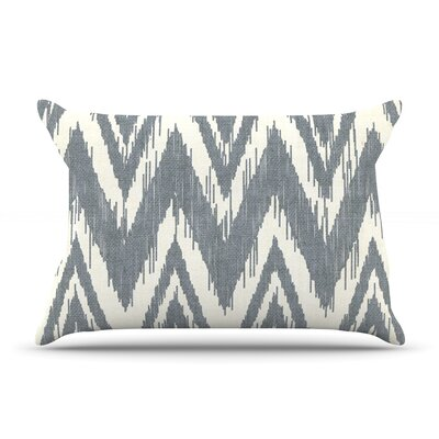 Tribal Chevron by Heidi Jennings Featherweight Pillow Sham Size: King, Color: Gray, Fabric: Woven Polyester