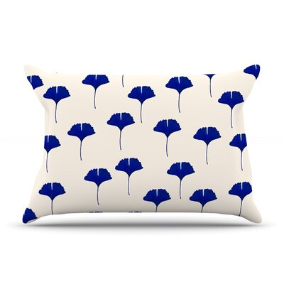 Leaf Pattern by Iris Lehnhardt Featherweight Pillow Sham Size: King, Fabric: Woven Polyester