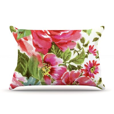 Heidi Jennings Walk Through The Garden Pink Flowers Featherweight Sham Size: Queen, Fabric: Woven Polyester