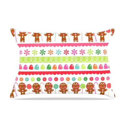 Heidi Jennnings Gumdrop Buttons Gingerbread Pillow Case