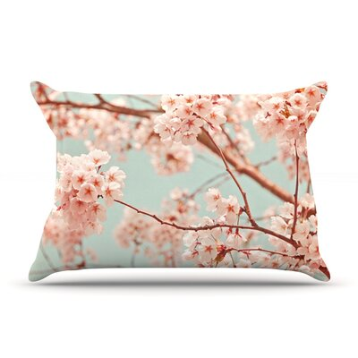 Blossoms All Over by Iris Lehnhardt Featherweight Pillow Sham Size: Queen, Fabric: Woven Polyester