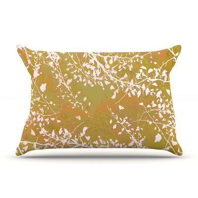 Twigs Silhouette by Iris Lehnhardt Woven Pillow Sham Size: King, Color: Neutral