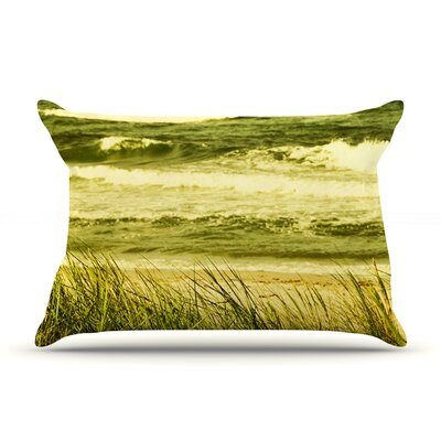Dunes and Waves by Iris Lehnhardt Featherweight Pillow Sham Size: Queen, Fabric: Woven Polyester